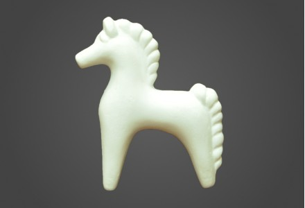 Дымковская лошадка рельеф