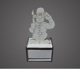 Карандашница солдат конструктор